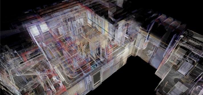 3D scan installaties installatieruimte