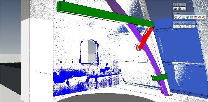 Clash detection 3D point cloud