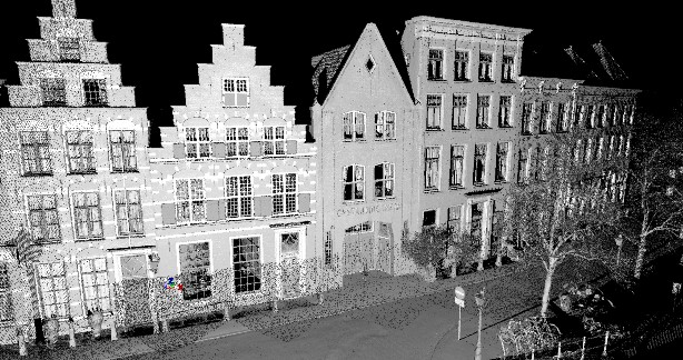 3D inmeten geveltekening trapgevels monumenten