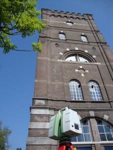 3D scanner bij Watertoren Den Bosch