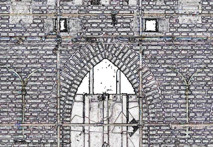 Stevenstoren lijntekening gebouw automatische geveltekening detail