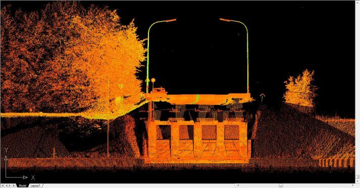 3D scan brug voor civiele techniek