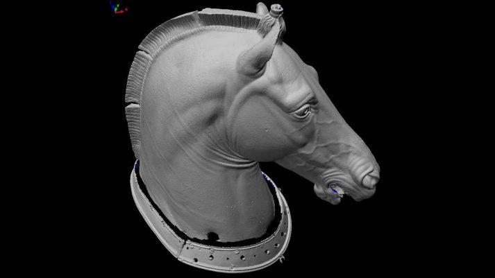 3D handscanner bronzen kunstwerk