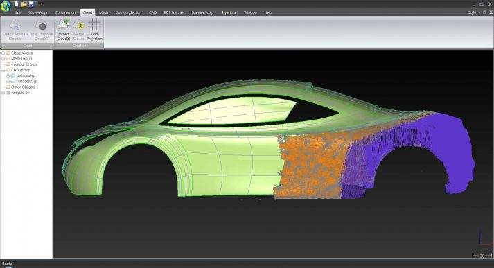3D scan mesh model auto