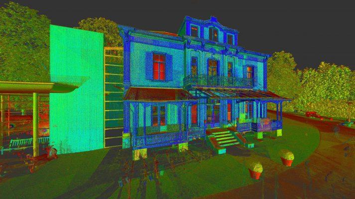 3D scan Airborne Museum Villa Hartenstein