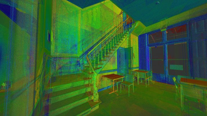 3D scan trappenhuis trap routing museum