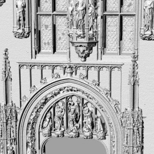 3D laserscan detail kerk