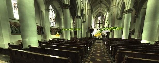 3D laserscan Truviewer kerk