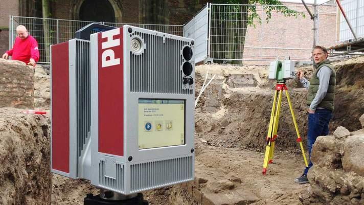 3D Laser scanning archeologie – inmeten Domplein Utrecht