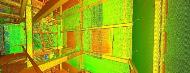 pointcloud 3d scan fabriek