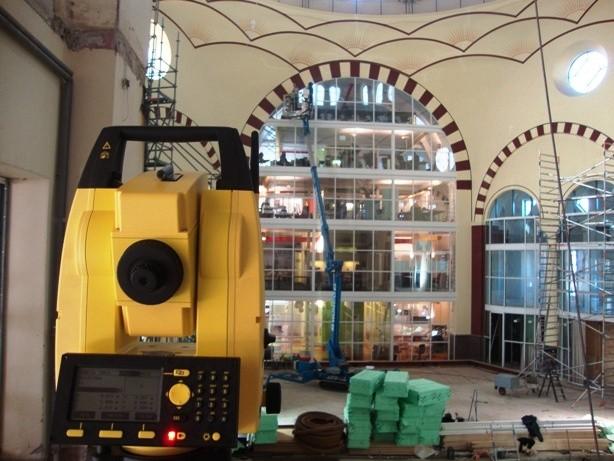 Uitzetwerk 3D scanner Majellakerk