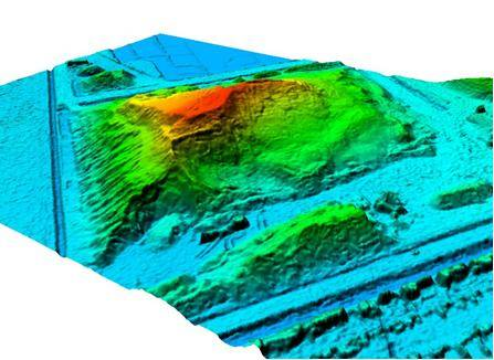 Digitaal terreinhoogte model (DTM) volumemeting heatmap