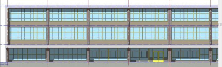 Revit-model inmeting basisschool Amsterdam