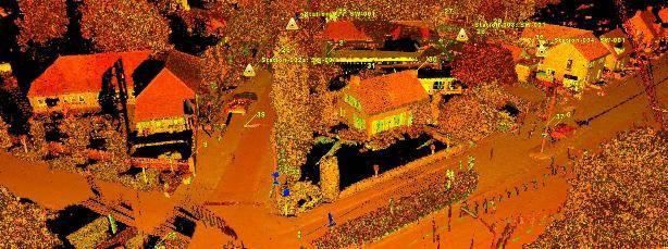 3D laserscanner inmeten terrein DTM meting