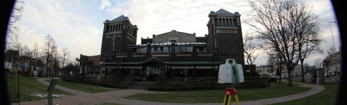 3D opname met laserscanner van schouwburg de vereeniging te Nijmegen