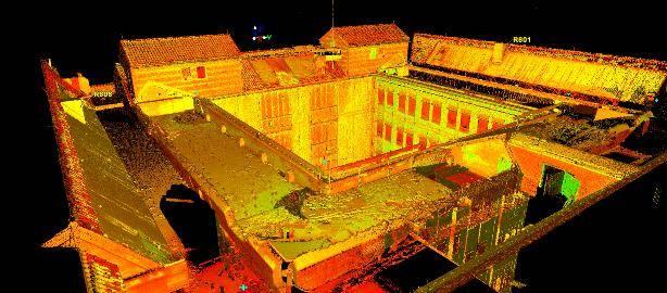 Pointcloud 3D inmeting ziekenhuis