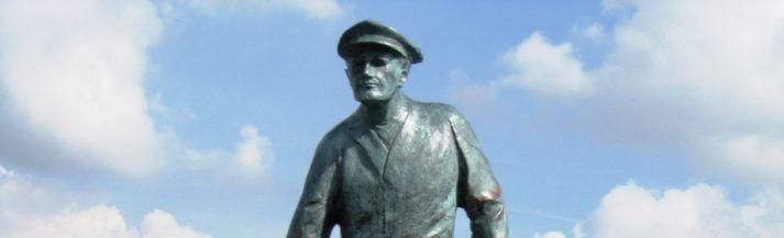 Bronzen beeld De Mosselman in Yerseke