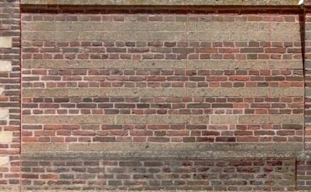 orthofoto pointcloud kerk te Brakel