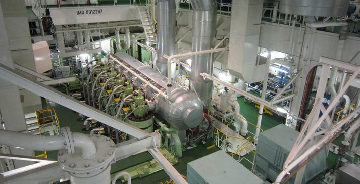 3d inmeten boten machinekamer