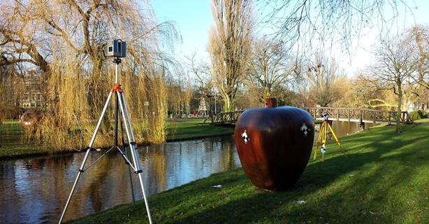 3D scannen kunstwerk appels