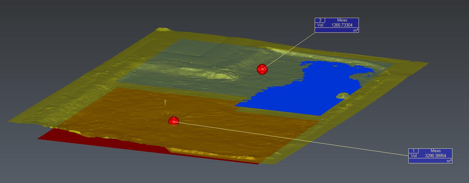 volume meting 3d laserscan en mesh