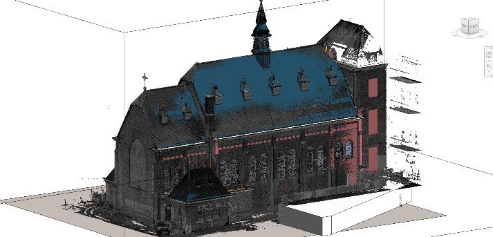 3D scan pointcloud 3D tekenprogramma Revit