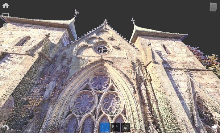 pointcloud kerk Noorwegen