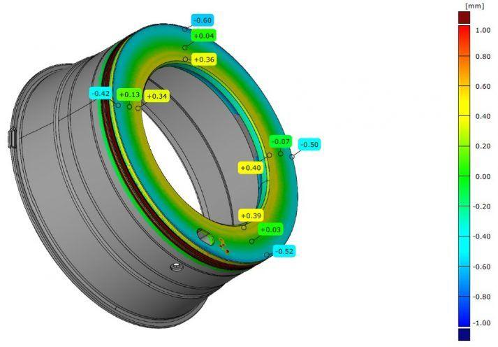 Zeer nauwkeurig inmeten CAD vergelijking