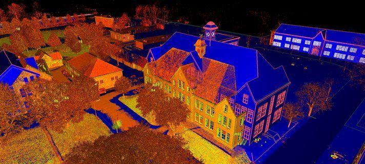3D model en pointcloud van Fort Isabella Vught