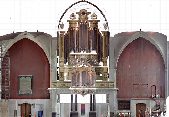 Kerkorgel inmeten