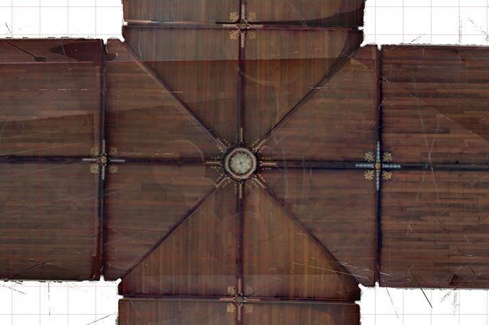 Stevenskerk-plafondtekening detail