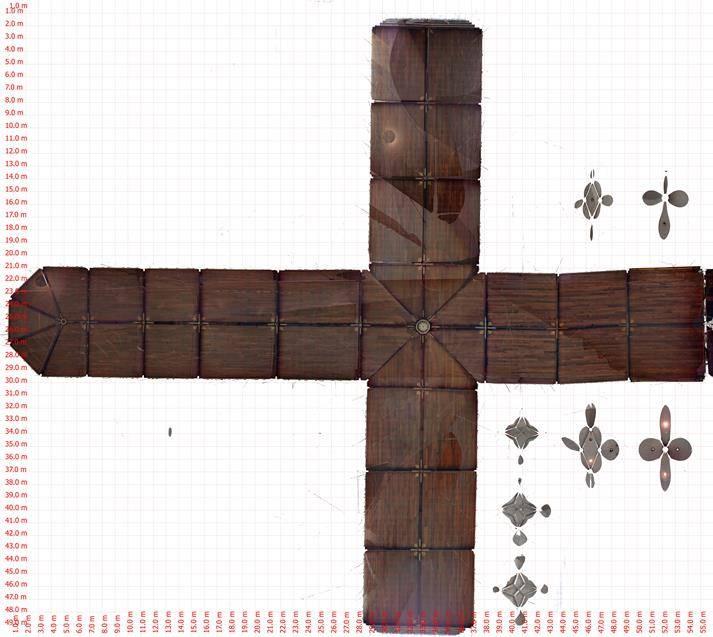 Stevenskerk plafondtekening vanuit 3D pointcloud