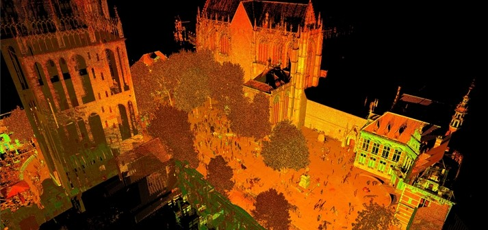 3D scan DOMunder archeologie Domplein Utrecht