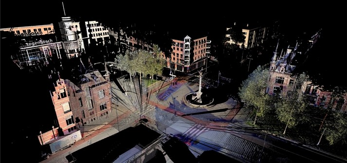 3D laserscannen gegevens pointcloud