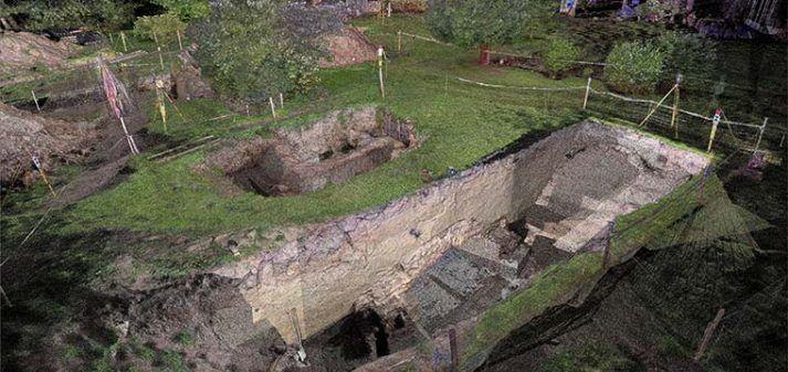 Pointcloud archeologisch onderzoek Philips van Kleef bolwerck
