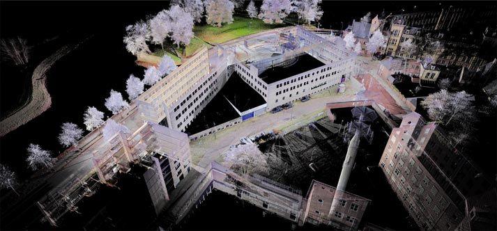 Overzichtsafbeeldingen van de pointclouds uit de 3D meting.