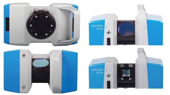 De Z+F Imager 5016 is uitgerust met een snelle HDR camera. De scanner heeft ingebouwde LED-verlichting om snel accuraat gekleurde pointclouds te maken.