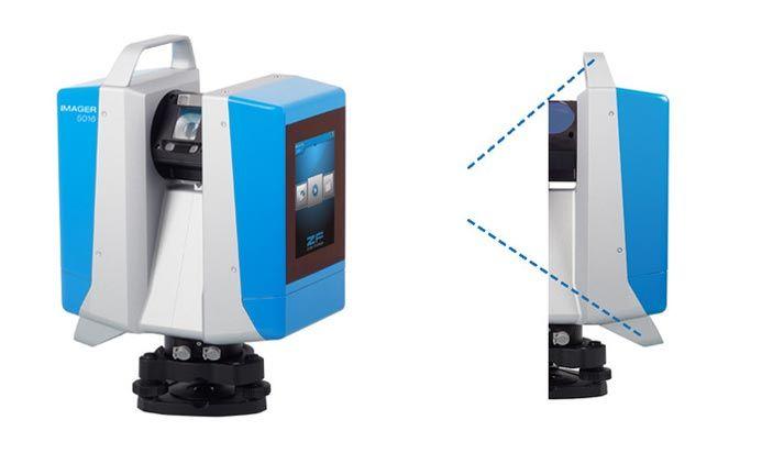 Nieuw compact ontwerp voor de Z+F Imager 5016, met ergonomisch geplaatste handgrepen voor veelzijdig en gemakkelijke gebruik.