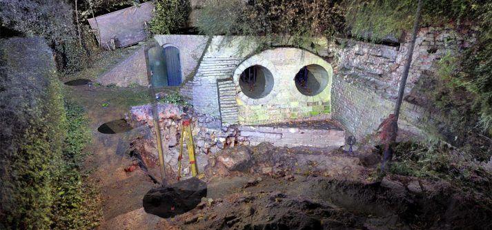 Fort Sanderbout opgraving schietgaten