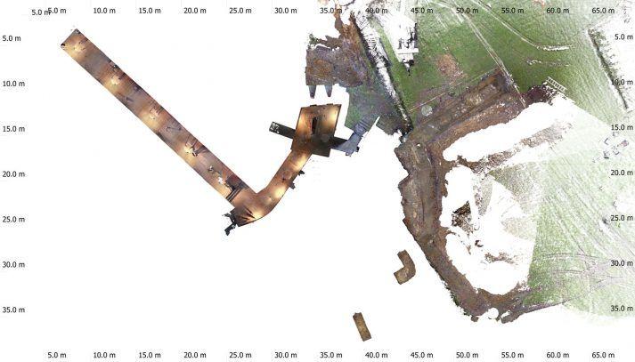 Geometrisch correct overzicht opgraving Fort Sanderbout