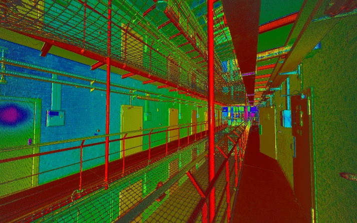 pointcloud 3D scan gevangenis