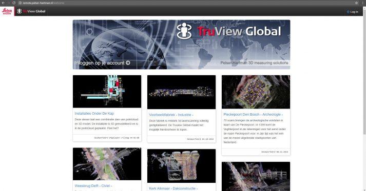 Screenshot Truview Global omgeving PelserHartman