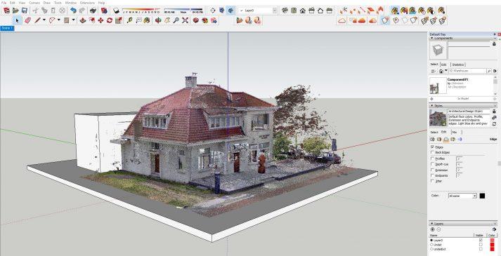 pointcloud voor architecten in sketchup