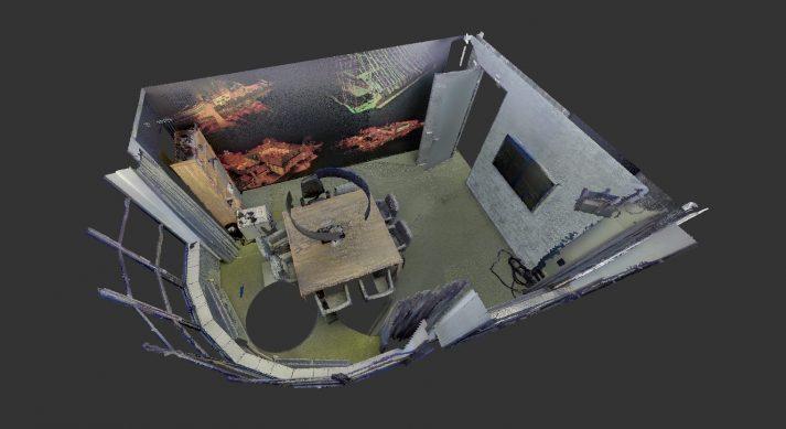 voorbeeld gekleurde pointcloud van 3D scan