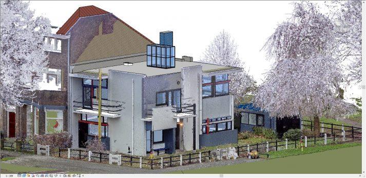 3D revit pointcloud Rietveld Schroder huis