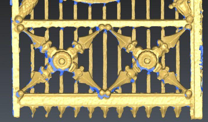 mesh van onderzijde poort gemaakt uit data van terrestrial laserscanner