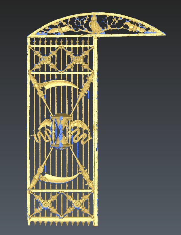 totaal overzicht mesh poort terrestrial laserscanner mesh