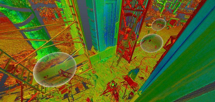 drie scanposities pointcloud viewer recap