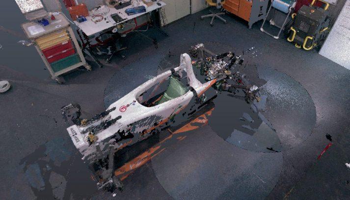 pointcloud elektrische raceauto