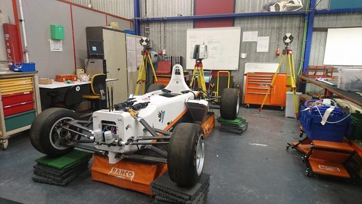 3D scannen elektrische raceauto
